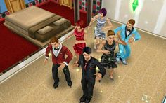 My Sims dancing on sims free play!!!:)