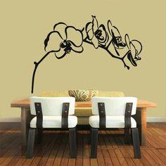 Orchid Flower Vinyl Wall Art