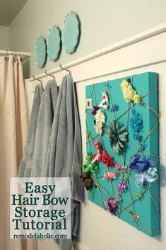 Easy Hair Bow Storage Tutorial
