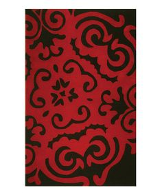Take a look at this Red Snowflake Wool Rug by The Rug Market on #zulily today!