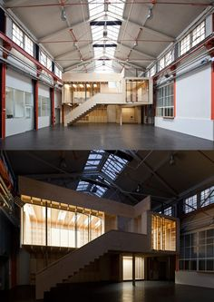 Urban Industrial Decor To A Stunning Place Shed Design, Garage Design, Roof Design, Warehouse Living, Warehouse Design, Warehouse Office, Industrial Architecture, Modern Architecture, Industrial Sheds
