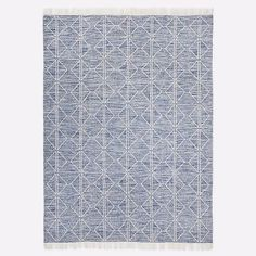 Reflected Diamonds Indoor/Outdoor Rug, Officer Blue, 5'x8'