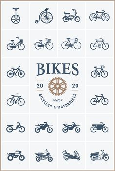 Free Download : Bike Vector Pack (PSD, AI, EPS, SVG, PNG) | Designbeep