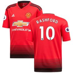66fb9558f3b Marcus Rashford Manchester United adidas 2018 19 Home Replica Player Jersey  – Red