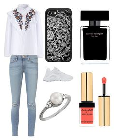 """""""Sans titre #3588"""" by yldr-merve ❤ liked on Polyvore featuring Chicwish, Frame, NIKE, Casetify, Narciso Rodriguez and Yves Saint Laurent"""