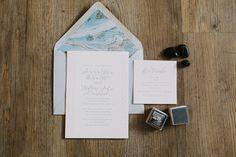 Light Blue wedding invitation suite / San Diego Beachside Wedding // Romantic Beach Wedding // Vintage // Lucky Day Events Co. // SD Wedding // Loews // Aaron Young Photography
