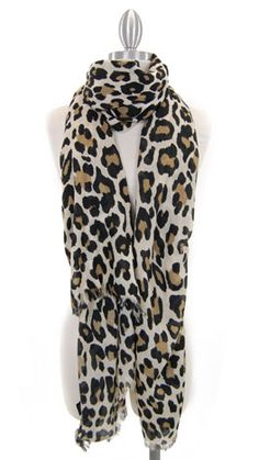 Love my animal print scarfs, they make any plain sweater to t-shirt pop