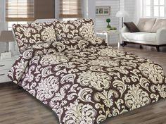 Holey Quilt obliečky Bavlna Deluxe  Cyprián hnedý 140x200, 70x90cm