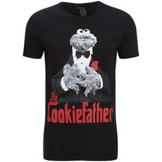 Cookie Monster Men's Cookiefather T Shirt Black #Krümelmonster