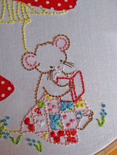 Sweet Stories Hand Embroidery PDF Pattern  Mouse Embroidery