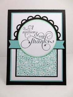 Stampin Up Million and One Thanks, Handmade Thank You, PPA292 by Stampin Amore