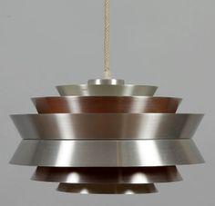 Lámpara de techo de diseño danés años 60 por Mementosbcn en Etsy, €255.00