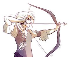 Stole my friend's cool archer lady character for digital practice… I dunno how archery works OTL I think the hand should be the other way but the reference I used looked like this… maybe modern...