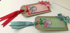 Christmas Gift Tags,Naughty and Nice Tags,2pk Handmade Xmas Gift Tags £2.00