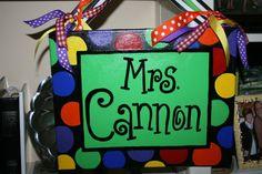 Hand Painted Canvas/ Teacher Door Sign by isabelandrew on Etsy, $30.00 Teacher Door Signs, Classroom Door Signs, Teacher Doors, Classroom Decor, Future Classroom, Hand Painted Canvas, Diy Canvas, Canvas Ideas, Canvas Art