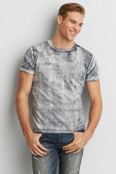 AEO Bleach Wash T-Shirt  by AEO   Your favorite T, now even better than ever with a new classic fit. Washed for softness