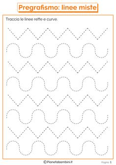 Trace the Dotted Lines Worksheets for Kids - Preschool and Kindergarten Preschool Writing, Preschool Learning Activities, Free Preschool, Preschool Printables, Kindergarten Worksheets, Autumn Activities, Alphabet Tracing Worksheets, Shapes Worksheets, Tracing Letters