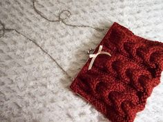 Cable Knit Clutch with Ball Clasp (now with tute on page 2!) - KNITTING