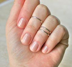 Silver Midi Rings(Set of Wild Daisy Cute Jewelry, Jewelry Rings, Jewelry Accessories, Fashion Accessories, Fashion Jewelry, Jewlery, Sparkly Jewelry, Simple Jewelry, Sterling Silver Midi Rings
