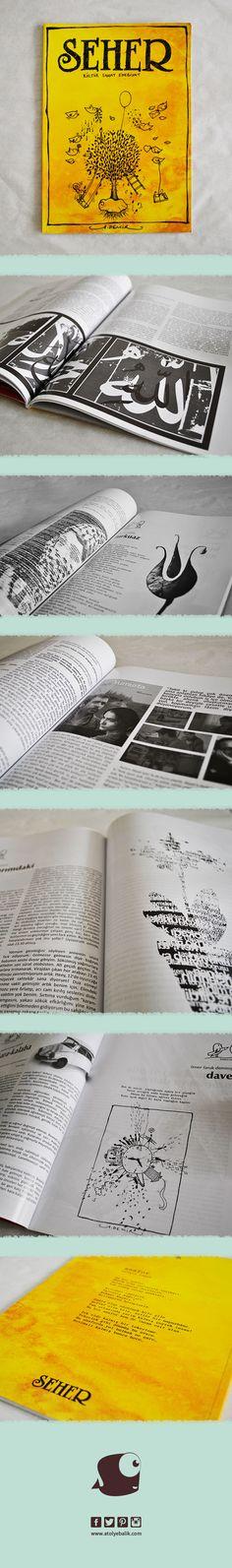 Seher Dergisi, tasarım: @rmystmz @rumejsa2  Çizim @mahmetdemir