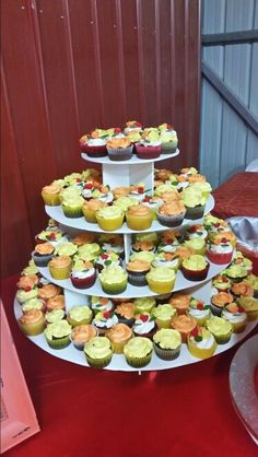 200 cupcakes for Angie's 15 (Oct 31 2015! Wood cupcake stand made by my hubby ☺