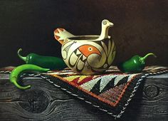 Acoma Bird 12x16 Oil Southwest Art, Oil, Projects, Log Projects, Blue Prints, Butter