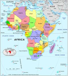 Map of africa with countries and capitals geography map geography various maps of africa use with my fathers world exploring countries and cultures gumiabroncs Gallery