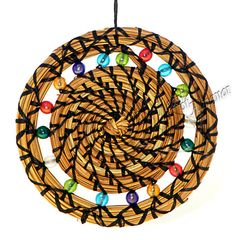 Sun Catcher Ornament Pine Neddle handmade by HeartOfAlmanor