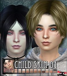 The Sims Resource: Children skin 01 by RemusSirion • Sims 4 Downloads