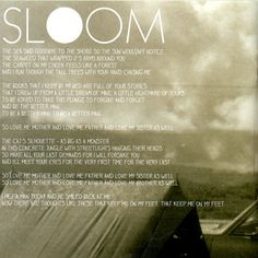 """Of Monsters and Men's Sloom: """"Now there are thoughts like these that keep me on my feet."""" :)"""
