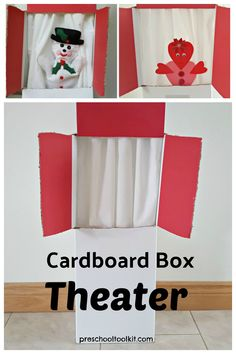 Make a simple puppet theater with a recycled cardboard box. This theater is easy to make without glue or tape. Decorate your theater with markers or stickers. Perform fun puppet shows for family and friends. #playroomideas #invitationtoplay Easy Projects, Sewing Projects, Homemade Puppets, Pinking Shears, Small World Play, Puppet Show, Hand Puppets, Creative Play, Hands On Activities