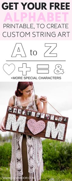 Make this beautiful Mother's day gift that will last for years to come!! Personalize it with some photos on top and use any LETTER to customize it!