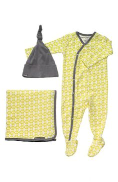 Free shipping and returns on Petunia Pickle Bottom 'Snuggle' Footie, Blanket & Hat Set (Infant) at Nordstrom.com. Snuggly organic cotton lends soothing comfort to a naptime-ready set comprised of a footed bodysuit, swaddling blanket and a knot-topped hat.