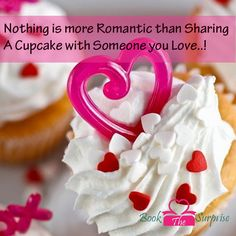 Nothing is more Romantic than Sharing A Cupcake with Someone you #Love..!#romance #vintage #bookthesurprise