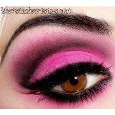eye makeup | Tumblr found on Polyvore  Draculaura