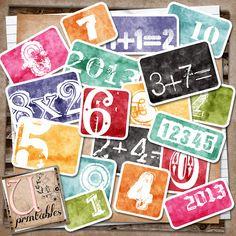 U printables by RebeccaB: FREE Printable - Number Cards ...... free is great!