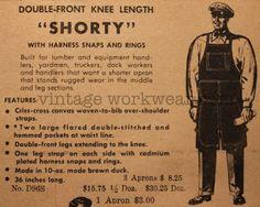 1950's-era work apron