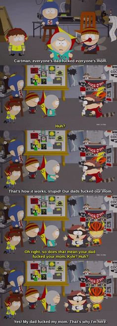 Kyle always gotta be puttin up with this bullshit on a daily basis. South Park Quotes, South Park Funny, South Park Memes, Oliver Queen Arrow, Creek South Park, South Park Fanart, Rawr Xd, Cartoon Books, Jokes