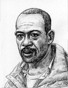Morgan From The Walking Dead ACEO Sketch Card by Jeff Ward #morgan #thewalkingdead #sketchcard #aceo