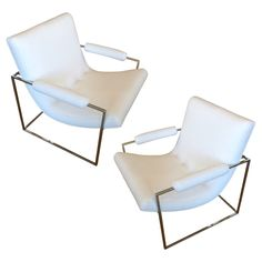 Pair of Sculptural Milo Baughman Lounge Chairs Lounge Chairs, Outdoor Chairs, Outdoor Furniture, Outdoor Decor, Home Wrecker, Milo Baughman, Interior Design Inspiration, Upholstery, Furniture Design