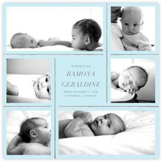 Whitework - Glacier - Paperless Post Twin Photos, Love Photos, Baby Announcement Cards, Birth Announcements, Welcome Photos, Baby Cheeks, Photo Wrap, Jungle Love, Paperless Post