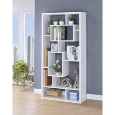 Bookcases Asymmetrical Cube Book Case With Shelves By Coaster At Value City Furniture on Home Shelves Ideas 4283 Cube Bookcase, Modern Bookcase, Etagere Bookcase, Modern Shelving, Bookcase White, Gold Etagere, Creative Bookshelves, Bookshelf Design, Cube Unit