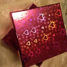 "Holographic  gift box 6""X6""X6"" pink n purple new box Other"