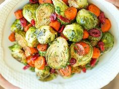 BALSAMIC ROASTED BRUSSELS SPROUTS AND CARROTS