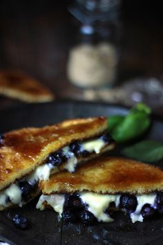 Blueberry Grilled Cheese with Brown Sugar Toast