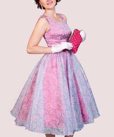 Pink & Blue Aurora Dress - Women & Plus by Tatyana #zulily #zulilyfinds