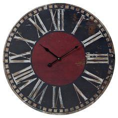 Distressed wall clock.  ($24.95)