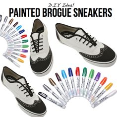 Painted Brogue Sneakers. Love them.