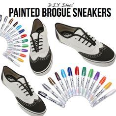 Painted Brogue Sneakers