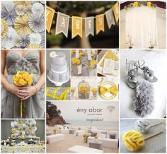 Gray and Yellow Wedding Inspiration